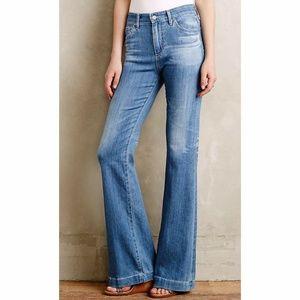 AG Hi Rise Flare Leg Jeans Womens 29